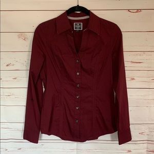 Express Essential Shirt Maroon